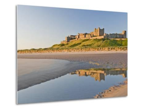 Morning Light on the Beach at Bamburgh Castle, Northumberland, England, United Kingdom, Europe-James Emmerson-Metal Print