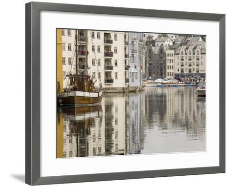 Old Harbour, Fishing Trawler and Motor Craft, Alesund, Norway, Scandinavia, Europe-James Emmerson-Framed Art Print