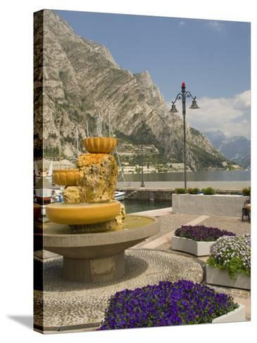 Part of the Lakeside Gardens, Looking North over the Lake, Limone, Lake Garda, Lombardy, Italy-James Emmerson-Stretched Canvas Print