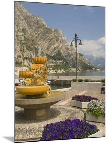 Part of the Lakeside Gardens, Looking North over the Lake, Limone, Lake Garda, Lombardy, Italy-James Emmerson-Mounted Photographic Print
