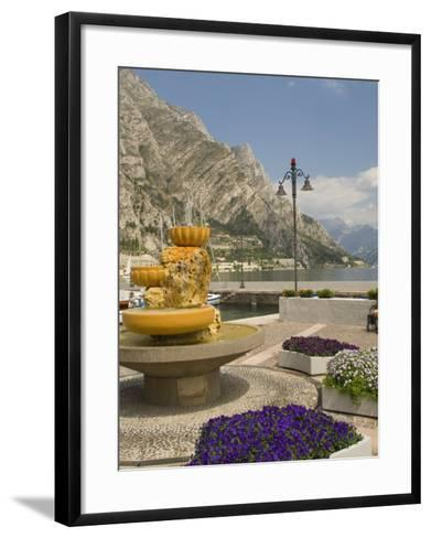 Part of the Lakeside Gardens, Looking North over the Lake, Limone, Lake Garda, Lombardy, Italy-James Emmerson-Framed Art Print