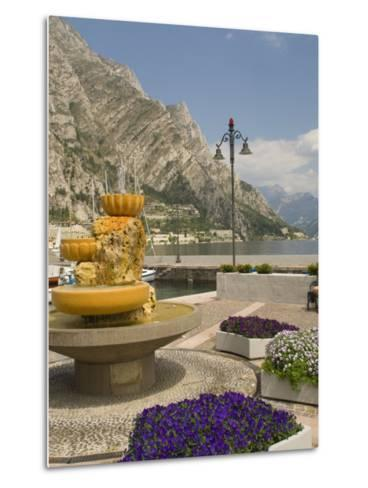 Part of the Lakeside Gardens, Looking North over the Lake, Limone, Lake Garda, Lombardy, Italy-James Emmerson-Metal Print