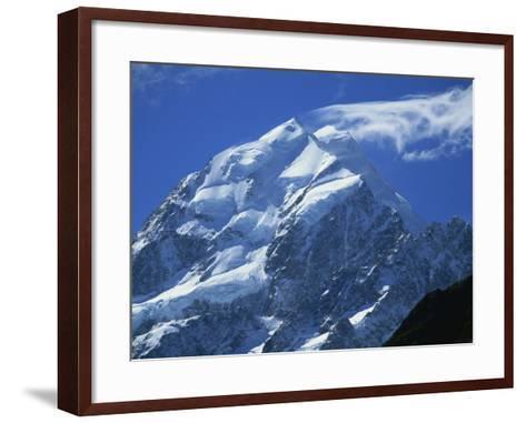 Mount Cook, Mount Cook National Park, Canterbury, South Island, New Zealand-Robert Francis-Framed Art Print