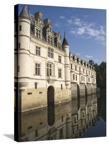 Chateau De Chenonceau Reflected in the River Cher, Indre-et-Loire, Pays De La Loire, France, Europe-James Emmerson-Stretched Canvas Print
