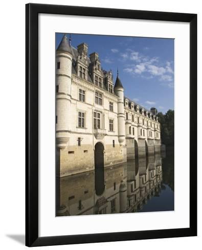 Chateau De Chenonceau Reflected in the River Cher, Indre-et-Loire, Pays De La Loire, France, Europe-James Emmerson-Framed Art Print