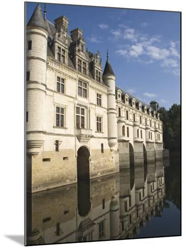 Chateau De Chenonceau Reflected in the River Cher, Indre-et-Loire, Pays De La Loire, France, Europe-James Emmerson-Mounted Photographic Print