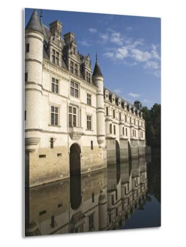 Chateau De Chenonceau Reflected in the River Cher, Indre-et-Loire, Pays De La Loire, France, Europe-James Emmerson-Metal Print