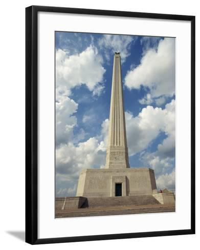 Monument at San Jacinto Battleground State Historic Park, Deer Park, in Houston, Texas, USA-Robert Francis-Framed Art Print