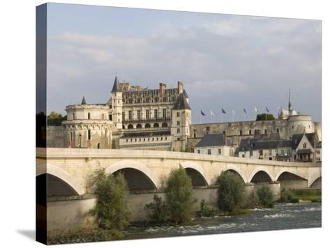 Chateau Royal D'Amboise, Indre-et-Loire, River Loire, France, Europe-James Emmerson-Stretched Canvas Print