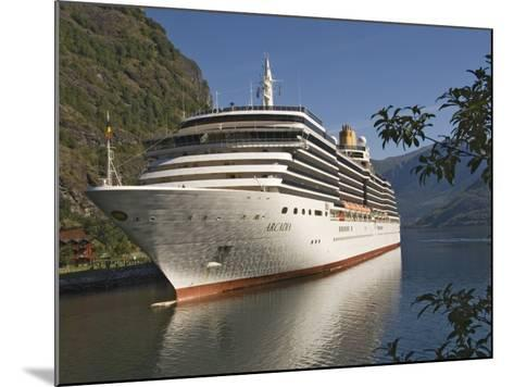 Cruise Ship Berthed at Flaams, Fjordland, Norway, Scandinavia, Europe-James Emmerson-Mounted Photographic Print