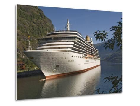 Cruise Ship Berthed at Flaams, Fjordland, Norway, Scandinavia, Europe-James Emmerson-Metal Print
