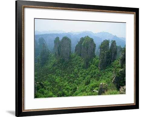 Zhangjiajie Forest Park in Wulingyuan Scenic Area in Hunan Province, China-Robert Francis-Framed Art Print