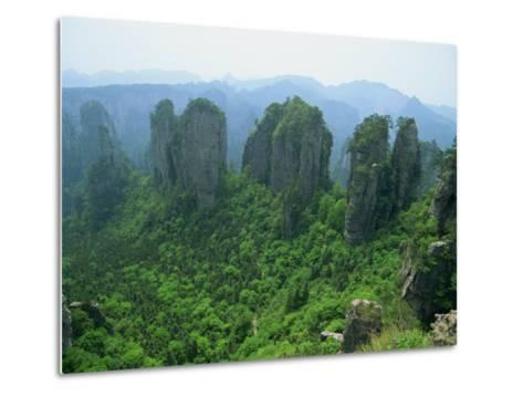 Zhangjiajie Forest Park in Wulingyuan Scenic Area in Hunan Province, China-Robert Francis-Metal Print