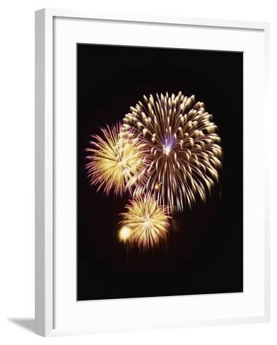 Fourth of July Firework Display, Portsmouth, Rhode Island, New England, USA-Robert Francis-Framed Art Print