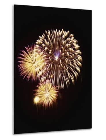 Fourth of July Firework Display, Portsmouth, Rhode Island, New England, USA-Robert Francis-Metal Print
