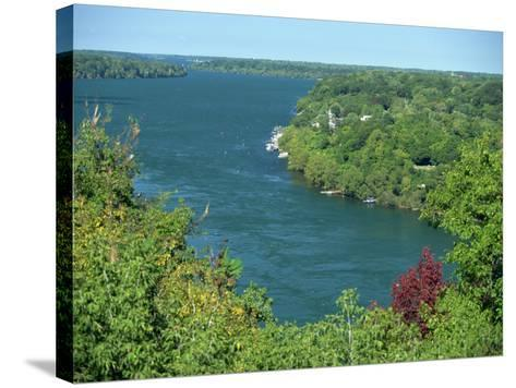 Niagara River Flowing Between Lakes Erie and Ontario from Queenstown Heights, Ontario, Canada-Robert Francis-Stretched Canvas Print