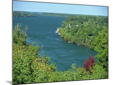 Niagara River Flowing Between Lakes Erie and Ontario from Queenstown Heights, Ontario, Canada-Robert Francis-Mounted Photographic Print