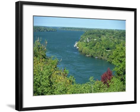 Niagara River Flowing Between Lakes Erie and Ontario from Queenstown Heights, Ontario, Canada-Robert Francis-Framed Art Print