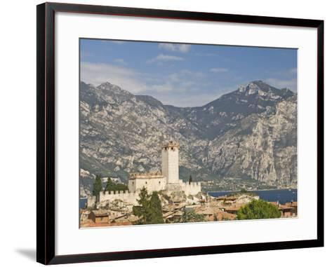 View over Malcesine and the Scaligero Castle, Lake Garda, Veneto, Italy, Europe-James Emmerson-Framed Art Print