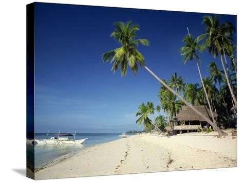 Alona Beach on the Island of Panglao Off the Coast of Bohol, in the Philippines, Southeast Asia-Robert Francis-Stretched Canvas Print