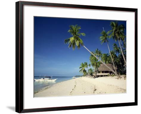 Alona Beach on the Island of Panglao Off the Coast of Bohol, in the Philippines, Southeast Asia-Robert Francis-Framed Art Print