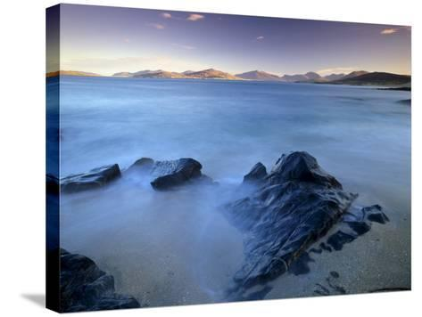Rock and Sea, Sound of Taransay, South Harris, Outer Hebrides, Scotland, United Kingdom, Europe-Patrick Dieudonne-Stretched Canvas Print