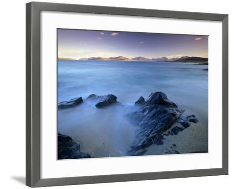 Rock and Sea, Sound of Taransay, South Harris, Outer Hebrides, Scotland, United Kingdom, Europe-Patrick Dieudonne-Framed Art Print
