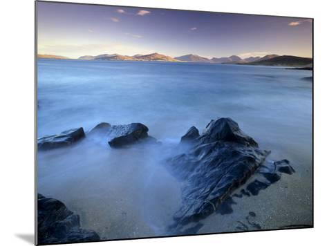 Rock and Sea, Sound of Taransay, South Harris, Outer Hebrides, Scotland, United Kingdom, Europe-Patrick Dieudonne-Mounted Photographic Print