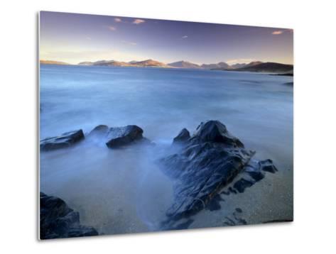 Rock and Sea, Sound of Taransay, South Harris, Outer Hebrides, Scotland, United Kingdom, Europe-Patrick Dieudonne-Metal Print