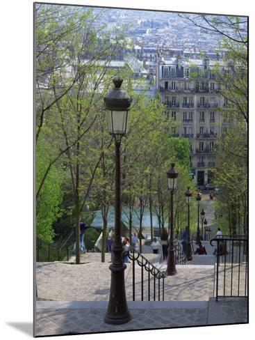 Looking Down the Famous Steps of Montmartre, Paris, France, Europe-Nigel Francis-Mounted Photographic Print