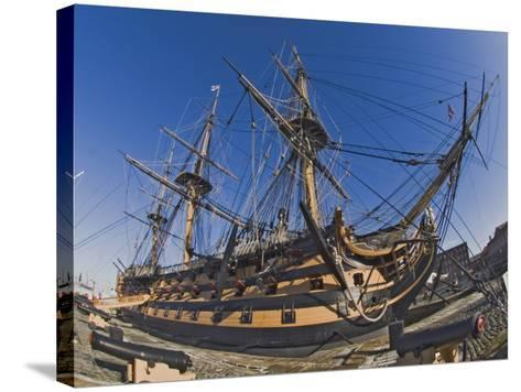 Hms Victory, Flagship of Admiral Horatio Nelson, Portsmouth, Hampshire, England, UK-James Emmerson-Stretched Canvas Print