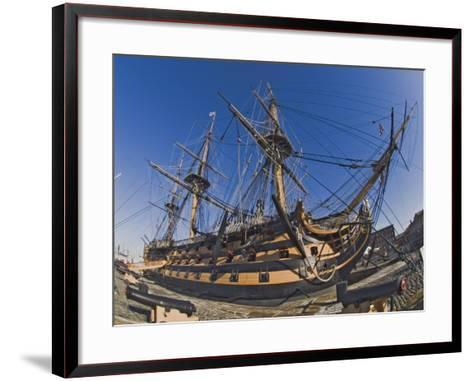 Hms Victory, Flagship of Admiral Horatio Nelson, Portsmouth, Hampshire, England, UK-James Emmerson-Framed Art Print