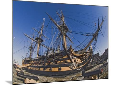 Hms Victory, Flagship of Admiral Horatio Nelson, Portsmouth, Hampshire, England, UK-James Emmerson-Mounted Photographic Print