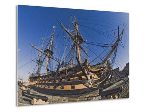 Hms Victory, Flagship of Admiral Horatio Nelson, Portsmouth, Hampshire, England, UK-James Emmerson-Metal Print