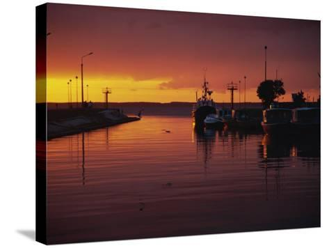 Sunset over Vistula Lagoon, Frombork, Poland, Europe-Ken Gillham-Stretched Canvas Print
