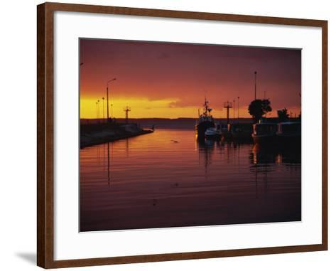 Sunset over Vistula Lagoon, Frombork, Poland, Europe-Ken Gillham-Framed Art Print