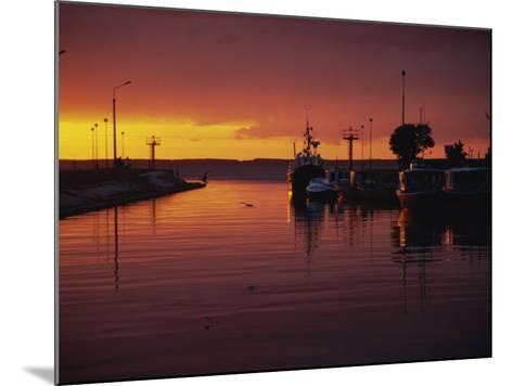 Sunset over Vistula Lagoon, Frombork, Poland, Europe-Ken Gillham-Mounted Photographic Print