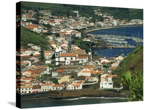 View from Monte De Guia of Horta, Faial, Azores, Portugal, Atlantic, Europe-Ken Gillham-Stretched Canvas Print