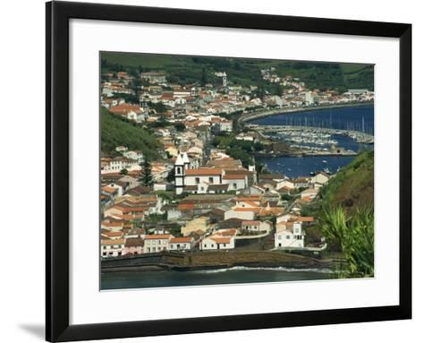 View from Monte De Guia of Horta, Faial, Azores, Portugal, Atlantic, Europe-Ken Gillham-Framed Art Print