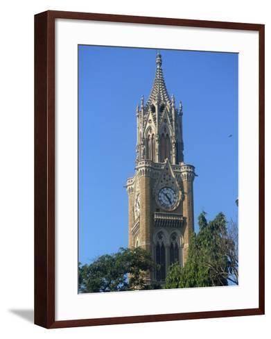 University Clock Tower, Mumbai, India-Ken Gillham-Framed Art Print