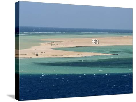 Lone House on Sand Spit, on the Approach to Safaga, Egypt, North Africa, Africa-Ken Gillham-Stretched Canvas Print