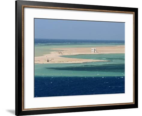 Lone House on Sand Spit, on the Approach to Safaga, Egypt, North Africa, Africa-Ken Gillham-Framed Art Print