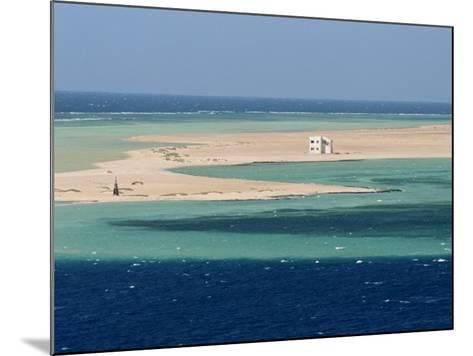 Lone House on Sand Spit, on the Approach to Safaga, Egypt, North Africa, Africa-Ken Gillham-Mounted Photographic Print