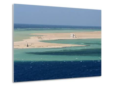 Lone House on Sand Spit, on the Approach to Safaga, Egypt, North Africa, Africa-Ken Gillham-Metal Print
