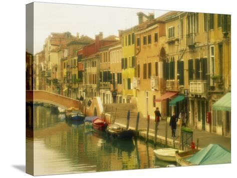 Houses on Canalside, the Ghetto, Venice, Veneto, Italy, Europe-Lee Frost-Stretched Canvas Print
