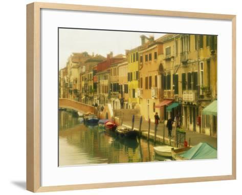 Houses on Canalside, the Ghetto, Venice, Veneto, Italy, Europe-Lee Frost-Framed Art Print