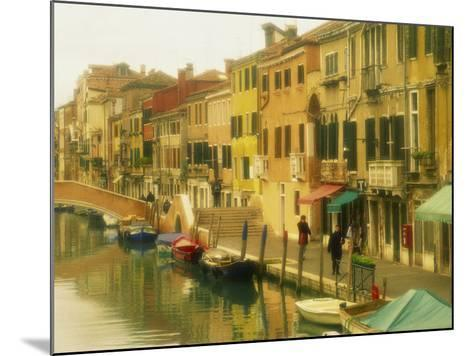 Houses on Canalside, the Ghetto, Venice, Veneto, Italy, Europe-Lee Frost-Mounted Photographic Print