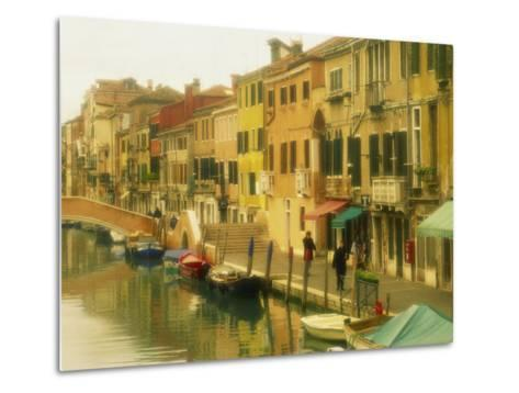 Houses on Canalside, the Ghetto, Venice, Veneto, Italy, Europe-Lee Frost-Metal Print
