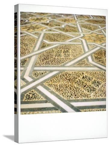 Polaroid Image of Geometric Patterns in Paving at Mausoleum of Mohammed V, Rabat, Morocco-Lee Frost-Stretched Canvas Print