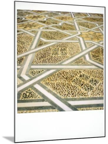 Polaroid Image of Geometric Patterns in Paving at Mausoleum of Mohammed V, Rabat, Morocco-Lee Frost-Mounted Photographic Print